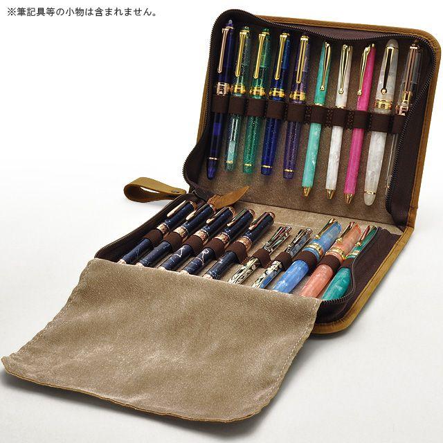 プリコ ペンケース 本革製ペンコレクションケース マウンテンベアー