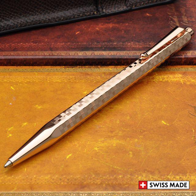 カランダッシュ ボールペン 限定品 日本限定モデル エクリドール ダミエ ローズゴールド JP0890-DRG