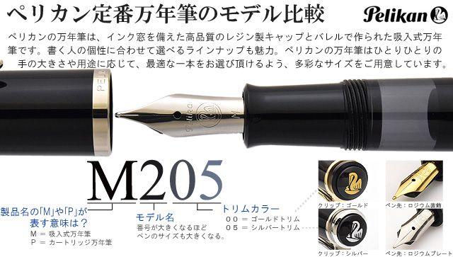 ペリカン定番万年筆のモデル比較 M300