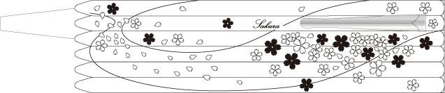 「桜(SAKURA)」彫刻デザインの展開図
