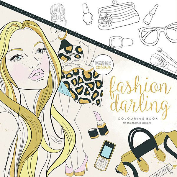 KAISERCRAFT カラーリングブック CL512 Fashion Darling Colouring