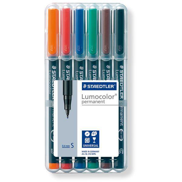 万年筆・ボールペンなど世界の筆記具を揃える通販ショップ。今なら合計6600円以上のご購入で送料・名入れ無料!STAEDTLER ステッドラー ルモカラーペン 超極細書きS 313WP6 6色セット | 世界の筆記具ペンハウス