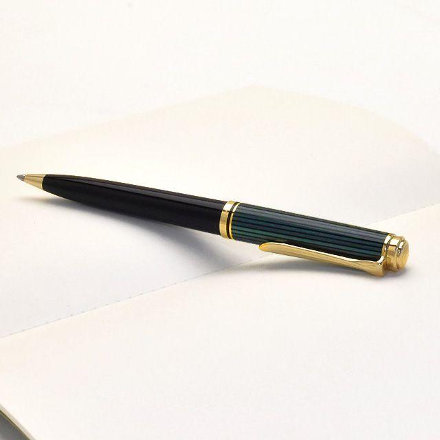ペリカン ボールペン スーベレーン800シリーズ K800 緑縞