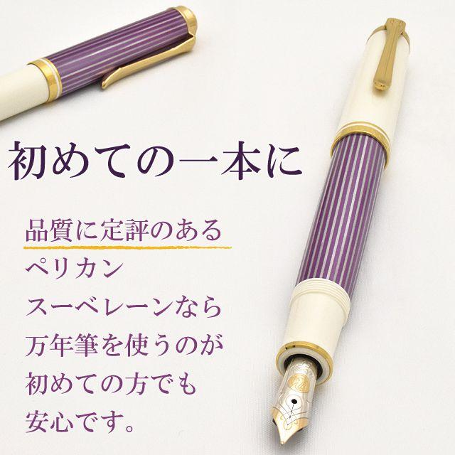 品質に定評のあるペリカンスーベレーンなら万年筆を使うのが初めての方でも安心です。