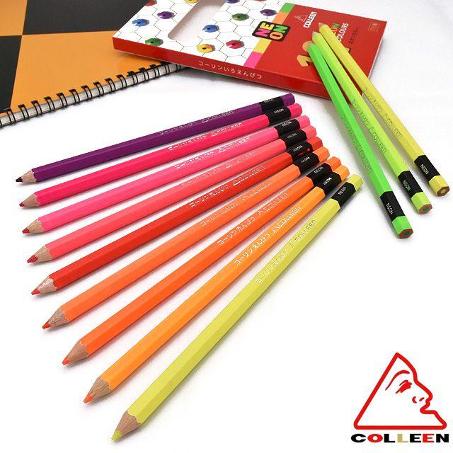 コーリン色鉛筆 蛍光色鉛筆