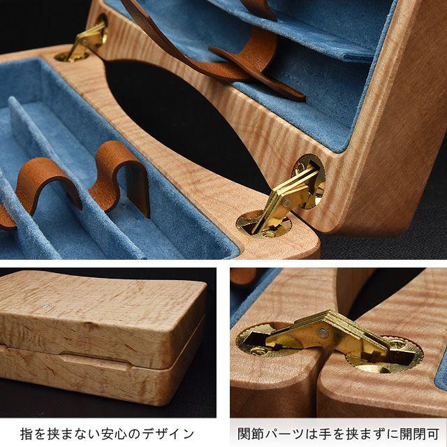 指を挟まない安心のデザイン。関節パーツは手を挟まずに開閉可。