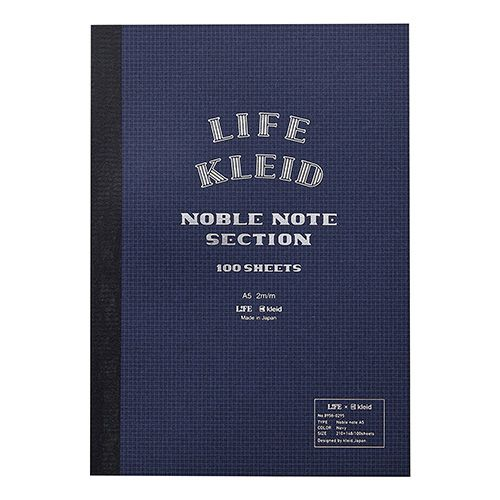 kleid(クレイド) LIFE×kleid Noble note A5  2mm方眼 ネイビー 8958