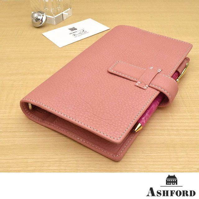 ASHFORD(アシュフォード) システム手帳 シルフ BIBLE 15mm ベルト ピンク