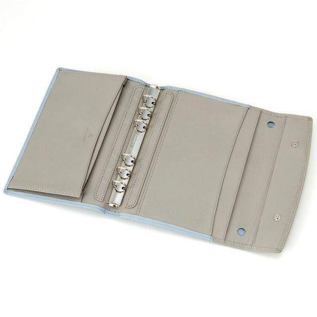 ASHFORD(アシュフォード) システム手帳 モダングレース BIBLE 15mm フラップ モーニンググレー 7268-009