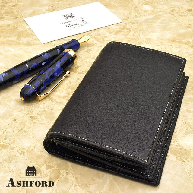 ASHFORD(アシュフォード) システム手帳 ディープ MICRO5 8mm+名刺入れ ブラック
