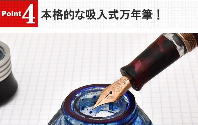本格的な吸入式万年筆!